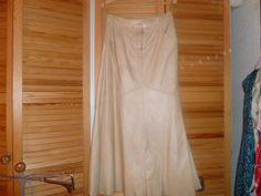 Lederrock von elegance-vanille- Größe 42