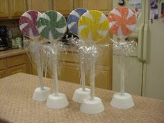 Candyland Birthday Party Lollipops Table Decoration | eBay