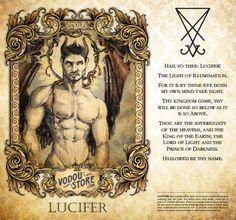 The Vodou Store Candle Label - Lucifer - Mythical Creatures Art, Mythological Creatures, Fantasy Creatures, Alchemy Symbols, Magic Symbols, Les Aliens, Satanic Art, Legends And Myths, Arte Obscura