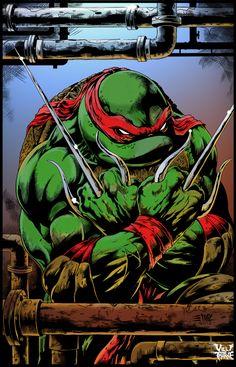 TMNT Raphael warm up sketch from the new Teenage Mutant Ninja Turtles cartoon.