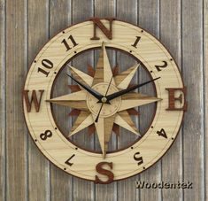 Handmade Compass Wooden clock - Wind Rose wallclock. Worldwide Shipping. Available in: www.woodentek.etsy.com …. #boating #boatingtrip #camping #Compass #CompassRose #direction #gps #instasea #lifeatsea #map #marine #maritime #merchantnavy #nautical #navigation #sailboat #sailing #sailors #Sale #seafarer #sealife #seaman #ship #shiplife #trail #trakking #trip #WindRose #yachting #Gift #GiftIdea #WishList #Gifts #sailingyacht