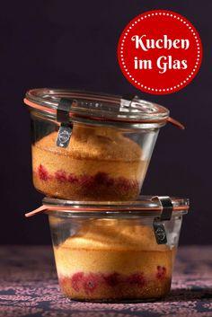 #Kuchen im Glas: Sieht phantastisch aus, schmeckt himmlisch und lässt sich mehrere Wochen im Glas aufbewahren! #Rezept #Backen
