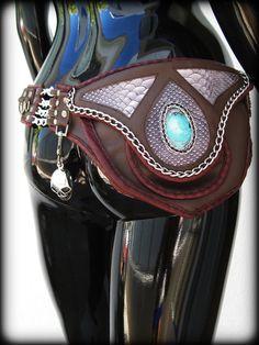 0c0984556f0f Items similar to Leather Utility Belt Turquoise New Mexico on Etsy