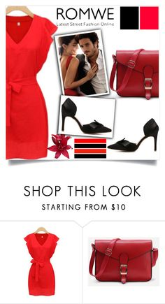 """""""ROMWE 5 / V"""" by selmamehic ❤ liked on Polyvore"""