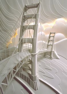 Paper craft Golden Gate Bridge
