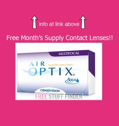 Free Air Optix Multifocal Contact Lenses