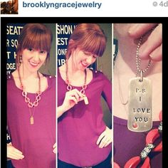 The winner of our giveaway showing off her song tag! Love it  @brooklyngracejewelry Thanks for sharing! #iheartmelvin #melvinlovesyou #melvin #jewelry #psiloveyou #thebeatles #songtags #necklaces #accessories #fashion #ootd #accessorize #instafashion #style #madeinusa #americanmade - @melvinjewelry- #webstagram