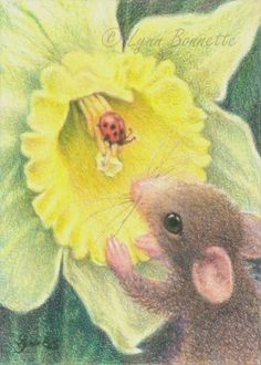 Mouse and Ladybug by Lynn Bonnette