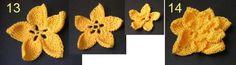 Панно «Три орхидеи». Длинным/тунисским крючком - орхидеи вязать, панно своими руками, вязание крючком панно