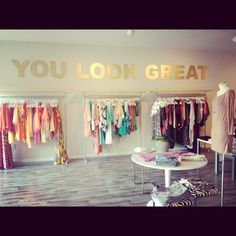 I love the idea of quotes and typography in the fitting rooms and around the store - what is written should represent what yumi is about - representing and encouraging individuality, quirkiness etc