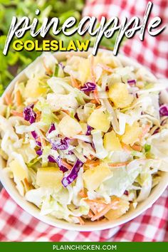 Slaw Recipes, Cabbage Recipes, Copycat Recipes, Pineapple Coleslaw, Pineapple Recipes, Side Dishes Easy, Side Dish Recipes, Vegetable Side Dishes, Vegetable Recipes