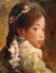 Artist: Tang   Wei Min, Title: Little Girl - click for larger image