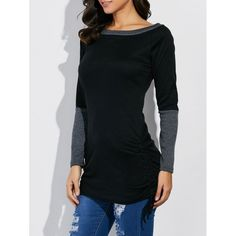 15.99$  Buy now - http://dih0c.justgood.pw/go.php?t=206108903 - Boat Neck Color Block Tee 15.99$