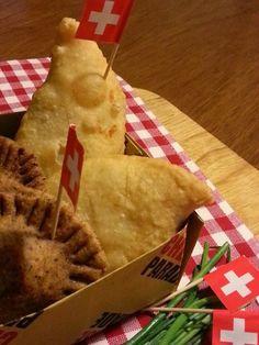 Tirtlan e gnocco fritto ripieni di Sbrinz e patate