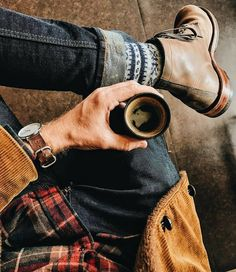 It's a Man's World rugged style Rugged Style, Style Casual, Men's Style, Male Style, Style Brut, Lumberjack Style, Mode Man, Style Masculin, Its A Mans World