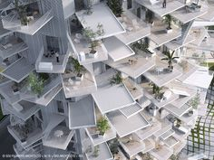 White Tree Mixed-Use Tower In Montpellier, France Is A Spiral Of Cantilevered Terraces