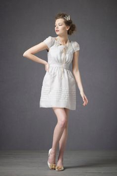 very light grey dress with pintucking details -  310 Rehearsal Dinner  Dresses 28c97ae20