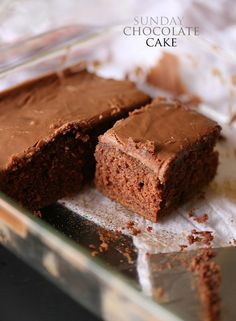 Sunday Chocolate Cake with Boiled Frosting | www.cookiesandcups.com | #cake #recipe #easy
