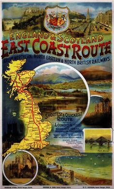 East Coast Route advertising, 1900