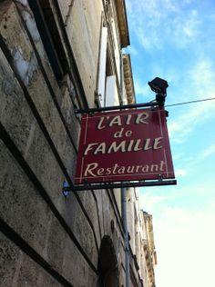 L'Air de Famille à Bordeaux Découvrez des informations sur ce restaurant ici Un chef talentueux et généreux, une cuisine gourmande, c'est ce qui vous attend en venant déjeuner ici. Plus d'informations dans ce billet http://suivezleguide.michelin.fr/lair-de-famille-bordeaux/