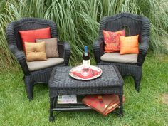 Easy Wicker Furniture Makeover   My Big Fat Happy Life. Painting Wicker ...