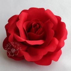 Sara Monica Artisan Collection: Flower Hair Clip and Brooch Pin: Red Rose: Style 02: Made in USA by Sara Monica LLC, http://www.amazon.com/dp/B0094A88A6/ref=cm_sw_r_pi_dp_nqarqb0Y7GHT4