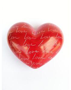 Kisii Stone Heart - XL Red Love - Hamlin Fistula Ethiopia (Australia)