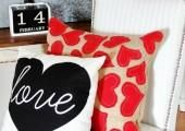 DIY Burlap Heart Pillow
