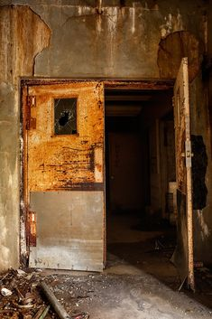 Entrance to the tunnels beneath Pennhurst State School and Hospital, East Vincent, Pennsylvania.