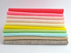 100% Wool felt sheets Sundae summer colours Collection Cloud Craft, Summer Colours, Felt Sheets, Colour Palettes, Color Inspiration, Heavy Metal, Wool Felt, The 100, Sunday