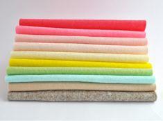 100% Wool felt sheets Sundae summer colours Collection Cloud Craft, Felt Sheets, Summer Colors, Color Inspiration, Wool Felt, Colours, Pure Products, Colour Palettes, Sunday