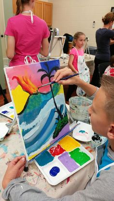 PaintFling private and public paint n sip paint nite party Oahu Hawaii Paint And Sip, The Masterpiece, Drawing Skills, Easy Paintings, Paint Party, Public, Oahu Hawaii, Fun, Kids