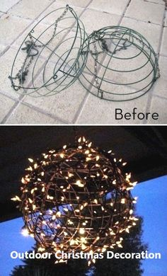 DIY Outdoor Christmas Lights Ideas 2020 : DIY Outdoor Christmas Lights Ideas - Happy Christmas - Noel 2020 ideas-Happy New Year-Christmas Best Outdoor Christmas Decorations, Diy Christmas Lights, Decorating With Christmas Lights, Christmas Diy, Christmas Bulbs, Antique Christmas, Primitive Christmas, Country Christmas, Christmas Wishes