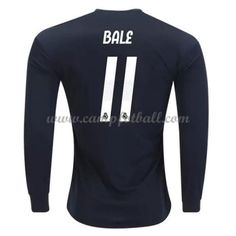 Real Madrid Fotballdrakter 2018-19 Gareth Bale 11 Bortedrakt Langermet Bale 11, Gareth Bale, Real Madrid, Soccer, Long Sleeve, Football, Club, Futbol, Futbol