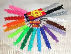Make double twister in all your favorite colors! #mylanyardmaker #rainbow #craft #diy #scouidou #boondoggle #lanyard #rexlace #plasticlace