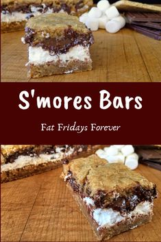 S'mores Bars made with homemade vegetarian marshmallow!