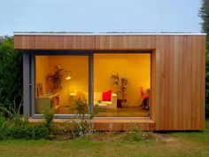 Ecospace Prefab Garden Studios - a reminder that as symmetrical design can look just as good as symmetrical design.