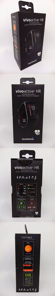 GPS and Running Watches 75230: Garmin Vivoactive Hr Gps Smartwatch W Elevate Wrist Heart Rate Technology Black -> BUY IT NOW ONLY: $207.9 on eBay!