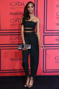 Jourdan Dunn in Calvin Klein Collection On the Red Carpet at the CFDA Awards [Photo by Evan Falk]