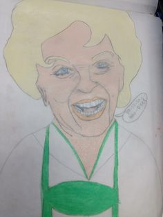 Susan Seaforth Hayes in German attire done with prisma color Colored pencils and charcoal pencil