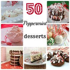 50 Peppermint Desserts #peppermint #recipes #dessert