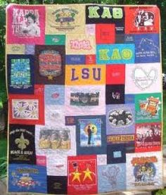 Sorority Tshirt quilt after graduation