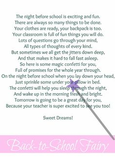 Busy Kids = Happy Mom: Back-to-School Fairy {with printable}