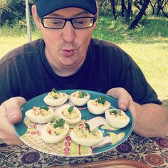 Best Campsite lunch: deviled eggs, Triscuits, and the crowd goes wild.