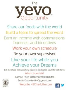 Yevo. Join the Food Revolution.