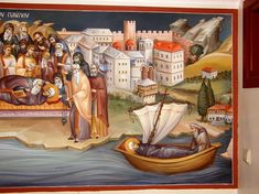 Themis Petrou - Ksiropotamou Monastery - Find Creatives Saint Anthony Church, Orthodox Icons, Nashville Tennessee, Athens Greece, Fresco, Style Icons, Religion, Paintings, Creative