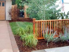 Landscape Makeover: America's Most Desperate Landscape 2010 – low maintenance front yard ideas diy Fence With Lattice Top, Low Fence, Front Fence, Cedar Fence, Fence Panel, Front Yards, Wisconsin Landscaping Ideas, Front Yard Fence Ideas Curb Appeal, Yard Before And After