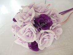 Bridesmaid bouquet ,paper flower,bridal bouquet, wedding paper flower bouquet, bridal flower,paper flower,bouquet paper flower,purple roses