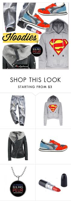 """Winter Layering: Hot Hoodies 4"" by paculi ❤ liked on Polyvore featuring Diadora, women's clothing, women's fashion, women, female, woman, misses, juniors, Hoodies and nastydress"
