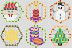 christmas hexagon pattern - Google Search